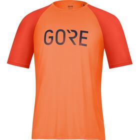 GORE WEAR Devotion Shirt Men fireball/orbit blue